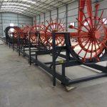 Stahlpfahlkäfig-Schweißmaschine, Stahlbewehrungskäfig, der Maschine herstellt